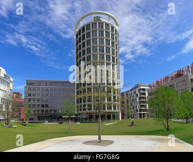 geography / travel, Germany, Hamburg, HafenCity, Sandtorpark (square), , Additional-Rights-Clearance-Info-Not-Available - Stock Photo