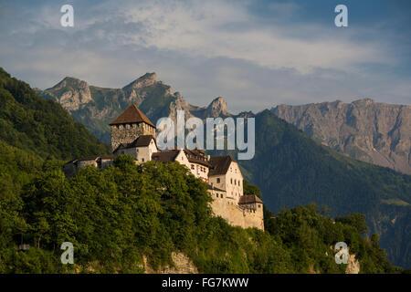 Castle of Vaduz, Schloss Vaduz, Rheintal, Rhine-valley, Liechtenstein. - Stock Photo