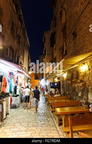 geography / travel, Croatia, Istria, Rovinj, old town in the evening, Additional-Rights-Clearance-Info-Not-Available - Stock Photo