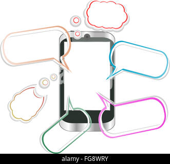 Modern mobile smart phone. Sending and Receiving SMS Messages - Stock Photo