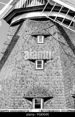 Low Angle View Of Traditional Windmill - Stock Photo