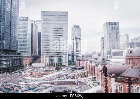 Cityscape Against Sky At Tokyo Station - Stock Photo