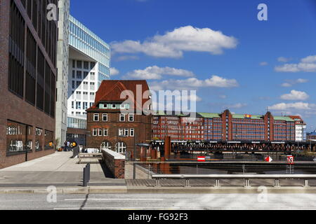 geography / travel, Germany, Hamburg, HafenCity, Ericusgraben, Additional-Rights-Clearance-Info-Not-Available - Stock Photo