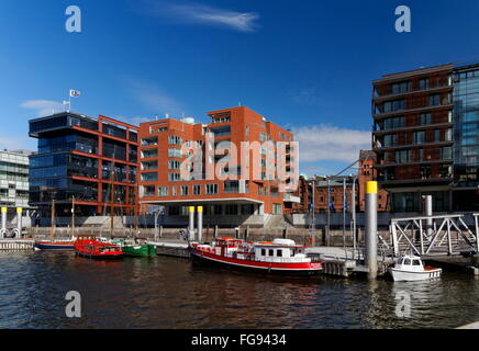 geography / travel, Germany, Hamburg, HafenCity, Sandtorkai (quay), Additional-Rights-Clearance-Info-Not-Available - Stock Photo