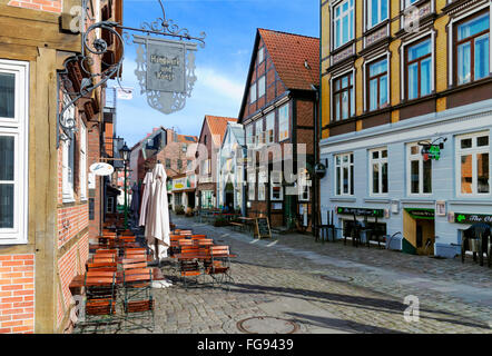 geography / travel, Germany, Hamburg, Harburg, old town, Kunsthafen, Additional-Rights-Clearance-Info-Not-Available - Stock Photo