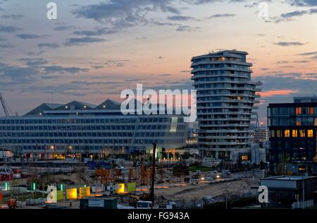 geography / travel, Germany, Hamburg, HafenCity, Unilever building, Marco-Polo-Tower, Additional-Rights-Clearance - Stock Photo