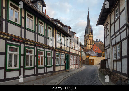geography / travel, Germany, Saxony-Anhalt, Wernigerode, Harz Mountains, Liebfrauenkirche (Church of Our Lovely - Stock Photo