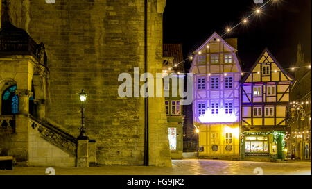 geography / travel, Germany, Saxony-Anhalt, Quedlinburg, city hall, Breite Strasse, Additional-Rights-Clearance - Stock Photo