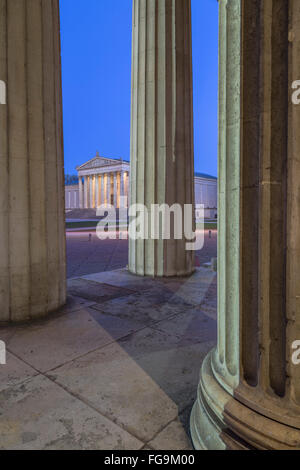 geography / travel, Germany, Bavaria, Munich, Koenigsplatz (King's Square), collection of antiques, Propylaea, Additional - Stock Photo