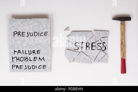 overcome stress - Stock Photo