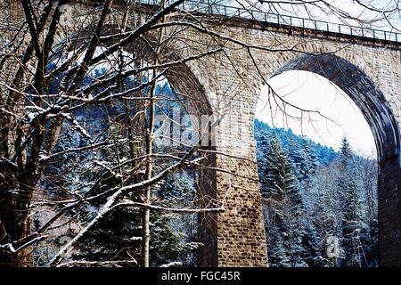 Low Angle View Of Bare Tree Against Ravenna Bridge - Stock Photo