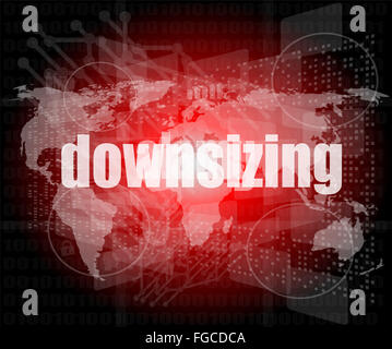 Business concept: words Downsizing on digital background - Stock Photo