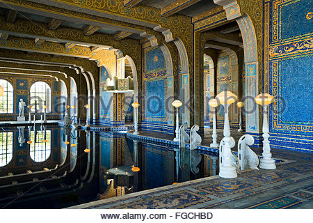 The Roman Pools at Hearst Castle. - Stock Photo