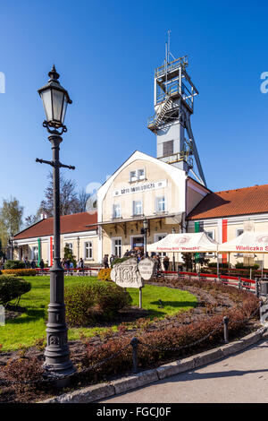 Wieliczka Salt Mine. Danilowicz shaft. Main entrance to underground tourist route. - Stock Photo