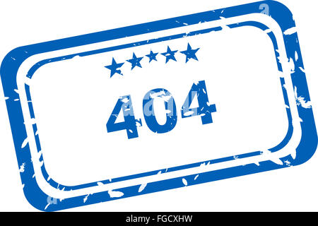 404 error Rubber Stamp over a white background - Stock Photo
