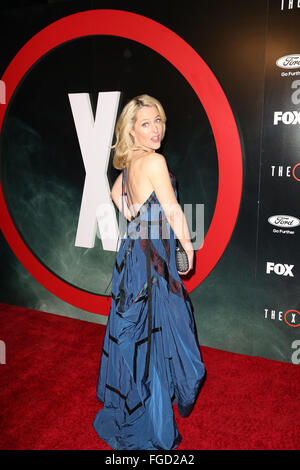 Celebrities attend THE X-FILES Premiere Event at California Science Center.  Featuring: Gillian Anderson Where: - Stock Photo