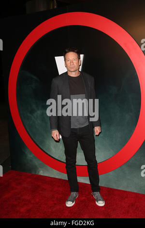 Celebrities attend THE X-FILES Premiere Event at California Science Center.  Featuring: David Duchovny Where: Los - Stock Photo