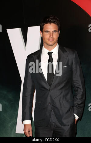 Celebrities attend THE X-FILES Premiere Event at California Science Center.  Featuring: Robbie Amell Where: Los - Stock Photo