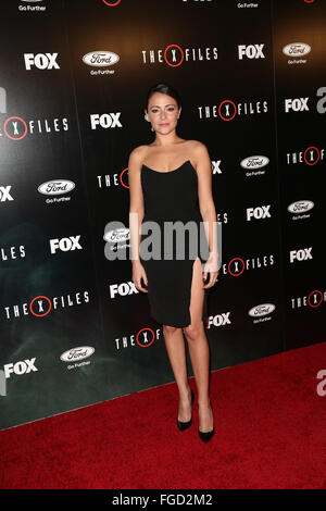 Celebrities attend THE X-FILES Premiere Event at California Science Center.  Featuring: Italia Ricci Where: Los - Stock Photo