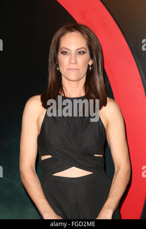 Celebrities attend THE X-FILES Premiere Event at California Science Center.  Featuring: Annabeth Gish Where: Los - Stock Photo