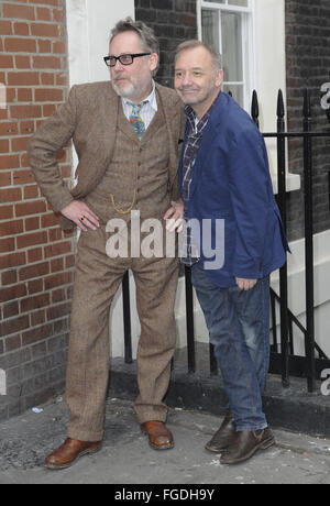 Vic Reeves and Bob Mortimer attend a photocall ahead of their upcoming UK tour '25 Years of Reeves and Mortimer - Stock Photo
