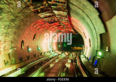 Bund Sightseeing Tunnel, Pudong, Shanghai, China