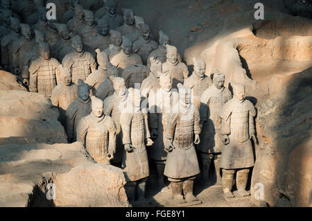 Museum of the Terracotta Warriors, Mausoleum of the first Qin Emperor, Xian, Shaanxi Province, China - Stock Photo