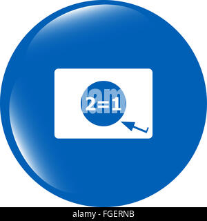 Two for one sign icon. Take two pay for one - Stock Photo