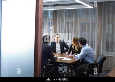 Recruitment business meeting, London, England, UK - Stock Photo