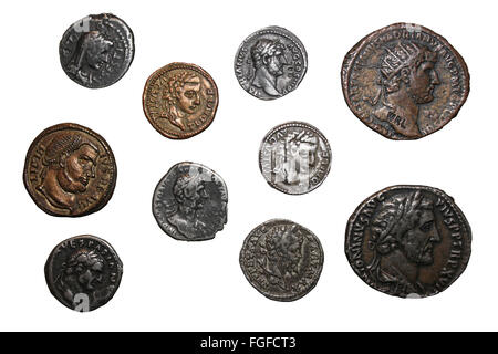 Cut-out Of Replica Roman Coins - Stock Photo