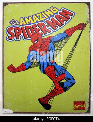 Spider Man Original Wall Plaque - Stock Photo