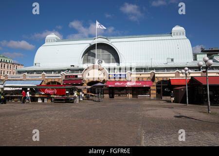 Saluhallen central market, Kungstorget, Gothenburg, West Gothland, Sweden, Scandinavia, Europe - Stock Photo