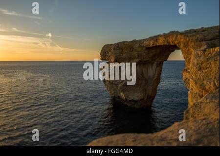 The Azure Window on Gozo, Malta. - Stock Photo