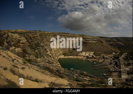 The Inland Sea on Gozo, Malta - Stock Photo