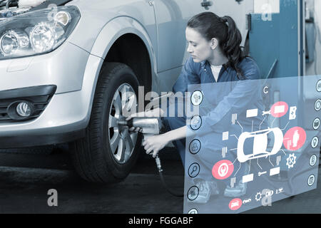 Composite image of engineering interface - Stock Photo