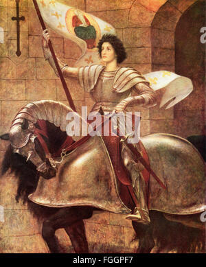 Joan of Arc, 1412 - 1431, aka Jeanne d'Arc, The Maid of Orléans  or Jeanne la Pucelle.  French heroine.  After the - Stock Photo