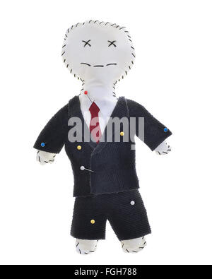 Concept Image of a Voodoo Doll in the Shape of a Man in a Suit. Can be a Businessman,Politician,Banker, etc... - Stock Photo