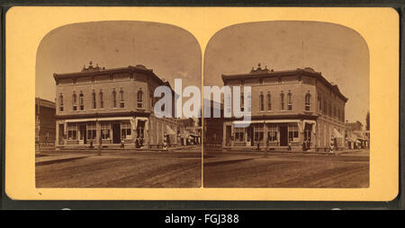 John Graham's Store, Portage, Wis, from Robert N. Dennis collection of stereoscopic views - Stock Photo