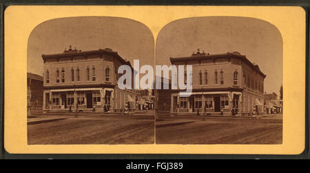 John Graham's Store, Portage, Wis, from Robert N. Dennis collection of stereoscopic views 2 - Stock Photo