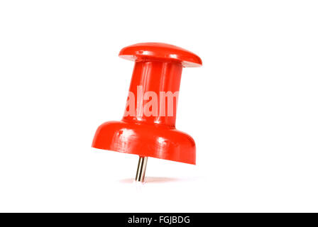 Red Push Pin - Stock Photo