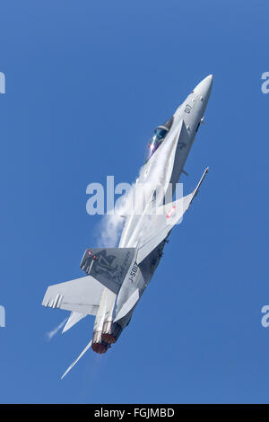 McDonnell Douglas F/A-18C Hornet J-5017 of the Swiss Air Force - Stock Photo