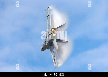 McDonnell Douglas F/A-18C Hornet J-5018 of the Swiss Air Force - Stock Photo