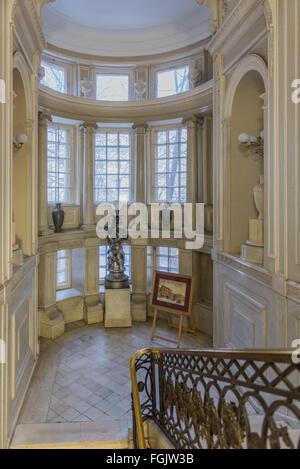 Saint Petersburg, Russia - February 2 2016. Palace of the Grand Duchess Olga Alexandrovna (House Baryatinsky) interior. - Stock Photo