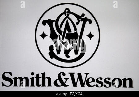 Markenname: 'Smith and Wesson', Berlin. - Stock Photo