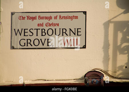 Westbourne Grove Street Sign - Stock Photo