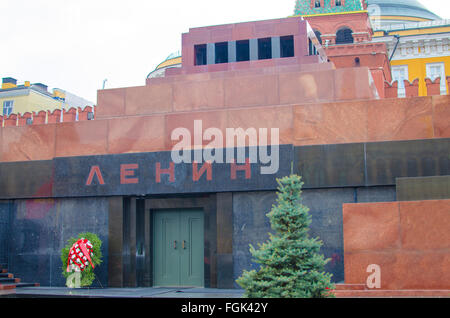 Lenin Mausoleum Red Square city of Moscow,sight,architecture,russia,mausoleum,museum,city,moscow,lenin,red,square - Stock Photo