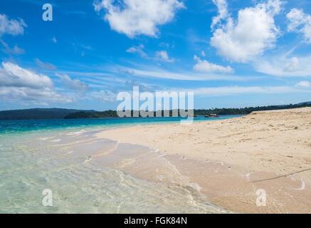 Scene at sea beach at Joly Bouy Island, Mahatama Gandhi marine National Park, Port blair, Andaman, India - Stock Photo