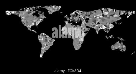 Vector world map  illustration with  triangles  eps 10 vector illustration - Stock Photo