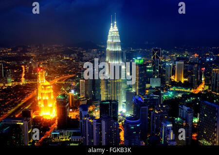Skyline of Kuala Lumpur, Malaysia - Stock Photo