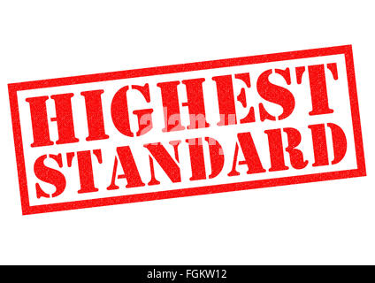 HIGHEST STANDARD red Rubber Stamp over a white background. - Stock Photo